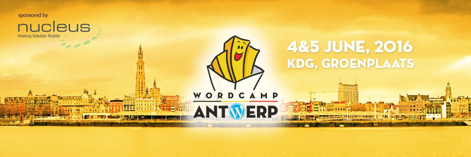 WordCamp Antwerp sponsored by Nucleus